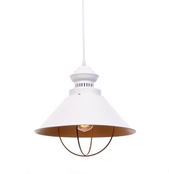 Lumina Deco Kugar industrialna loftowa biała lampa wisząca