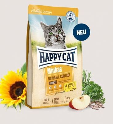 HC-3980 Happy Cat Minkas Hairball Control 500g