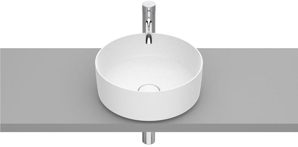 Roca Inspira Round umywalka nablatowa 37cm biała matowa A327523620