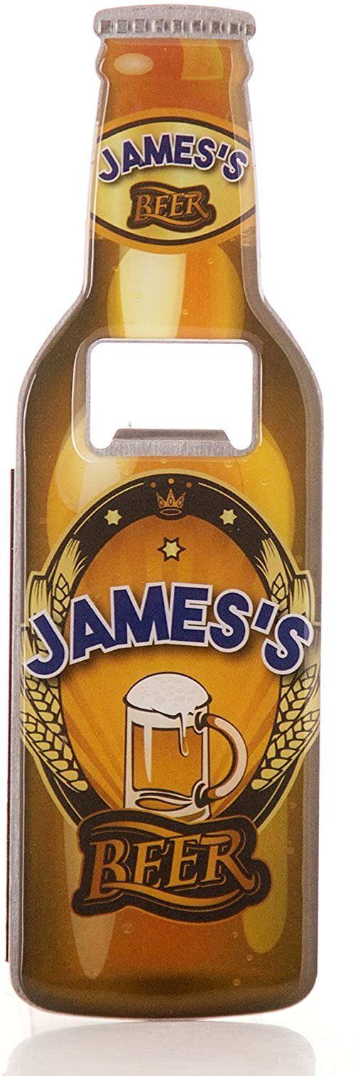 Bokserki prezenty James otwieracz do butelek piwa ze stali nierdzewnej, wielokolorowy, 18,5 x 5,8 x 0,4 cm
