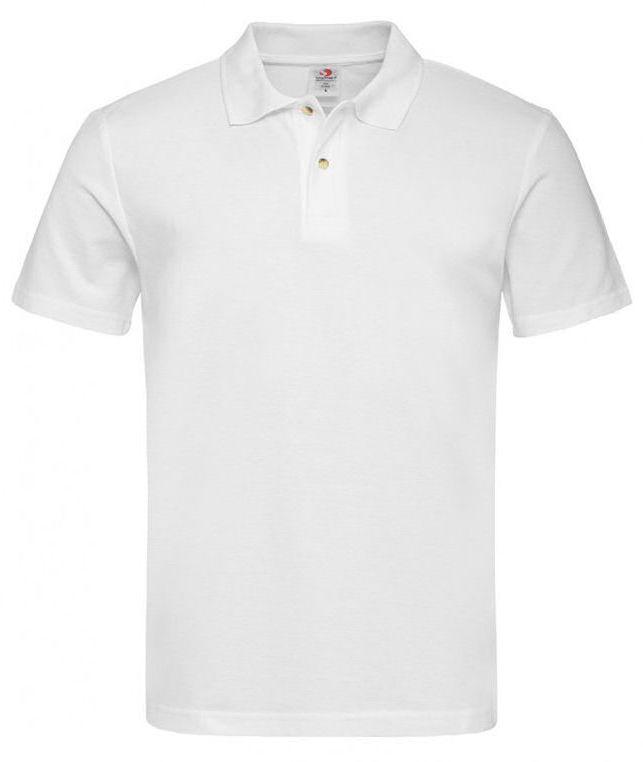Biała Bawełniana Koszulka POLO -STEDMAN- Męska, Krótki Rękaw, z Kołnierzykiem, Casualowa TSJNPLPOLOST3000white