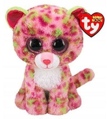 Maskotka TY INC Beanie Boos Lainey - Różowy leopard 24 cm