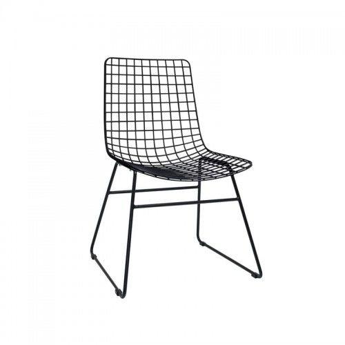 Krzesło metalowe Wire czarne HK Living