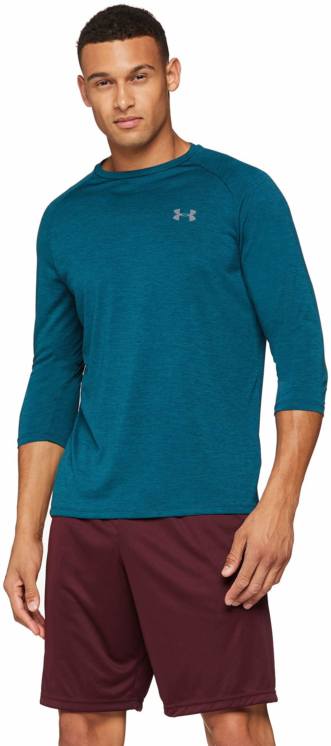 Under Armour Ua Tech 3/4 2.0 męska koszulka z długim rękawem Techno Teal/Graphite XL