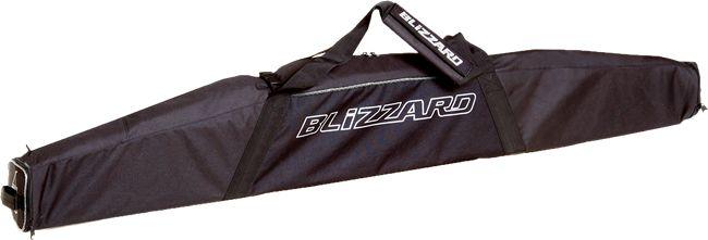 Blizzard POKROWIEC TORBA NA JEDNĄ PARĘ NART black/silver 165-185 cm 140326