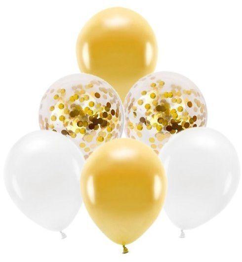 Zestaw balonów w złotej kolorystyce 15 sztuk ZB36
