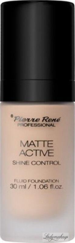 Pierre René - MATTE ACTIVE SHINE CONTROL FLUID FOUNDATION - Matujący podkład do twarzy - 05 SOFT PORCELAIN