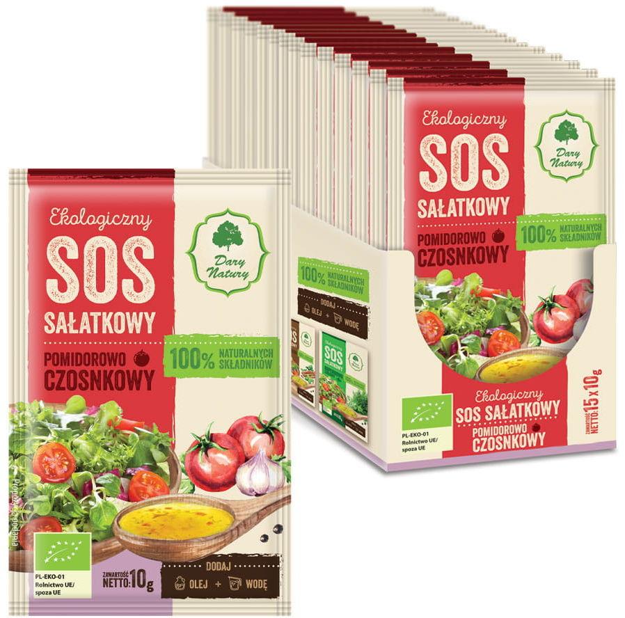 Sos sałatkowy pomidorowo - czosnkowy bio 10 g - dary natury