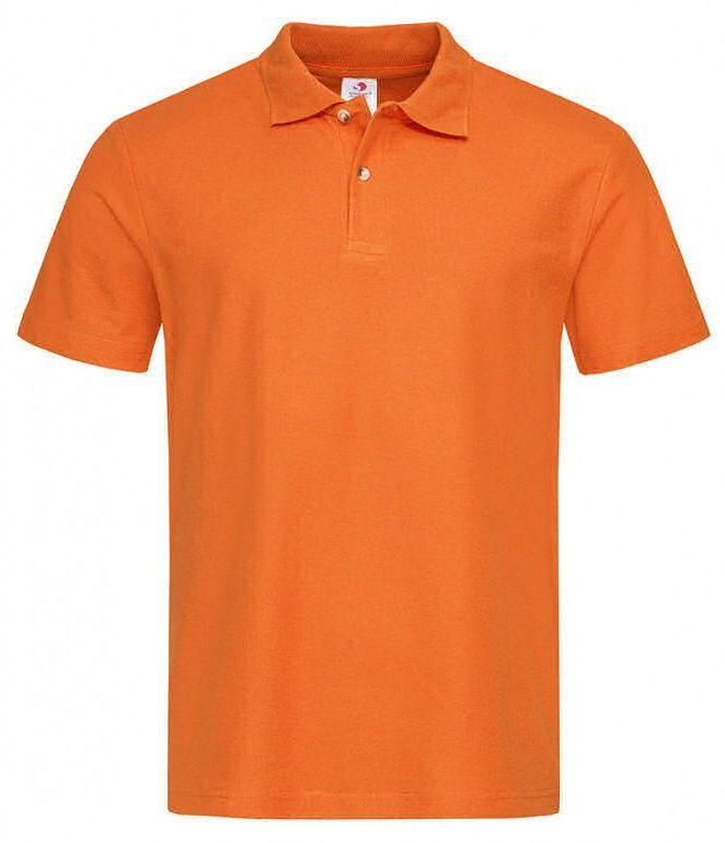 Pomarańczowa Bawełniana Koszulka POLO -STEDMAN- Męska, Krótki Rękaw, z Kołnierzykiem, Casualowa TSJNPLPOLOST3000orange