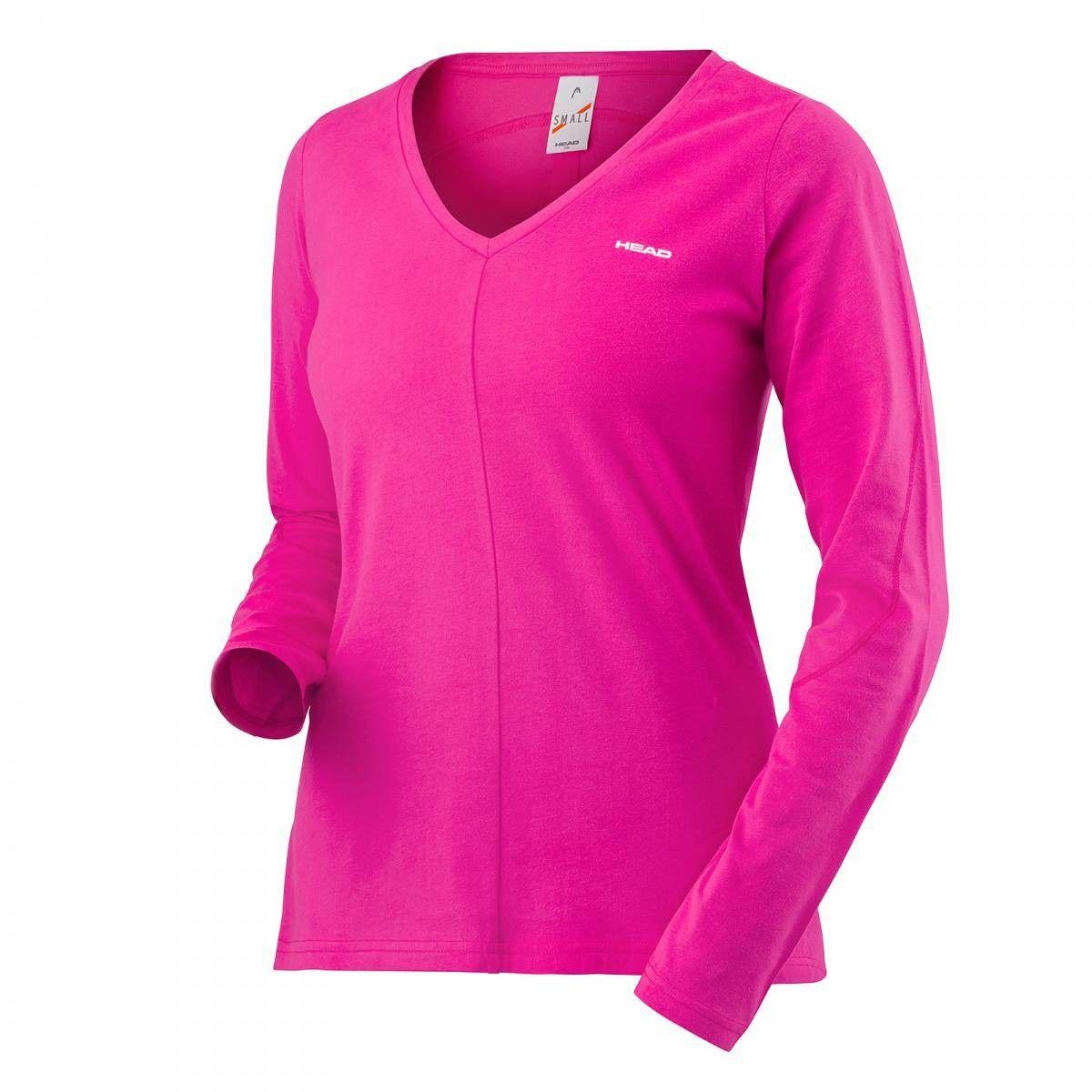 Head Transition LS Shirt W - pink