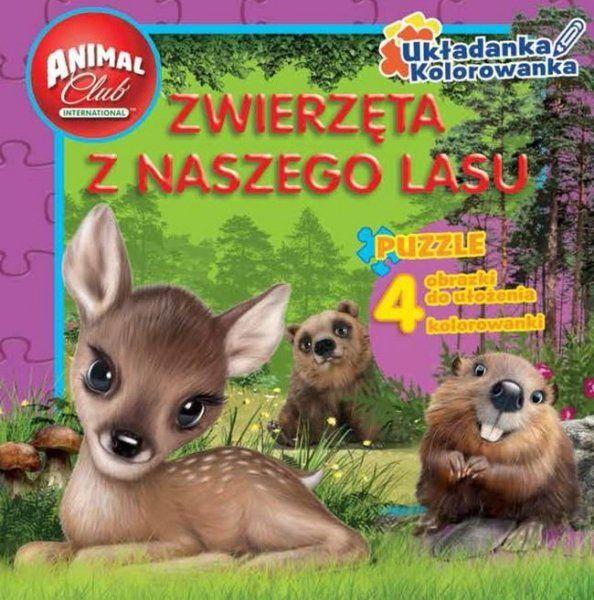 Animal Club Układanka Kolorowanka Zwierzęta z naszego lasu