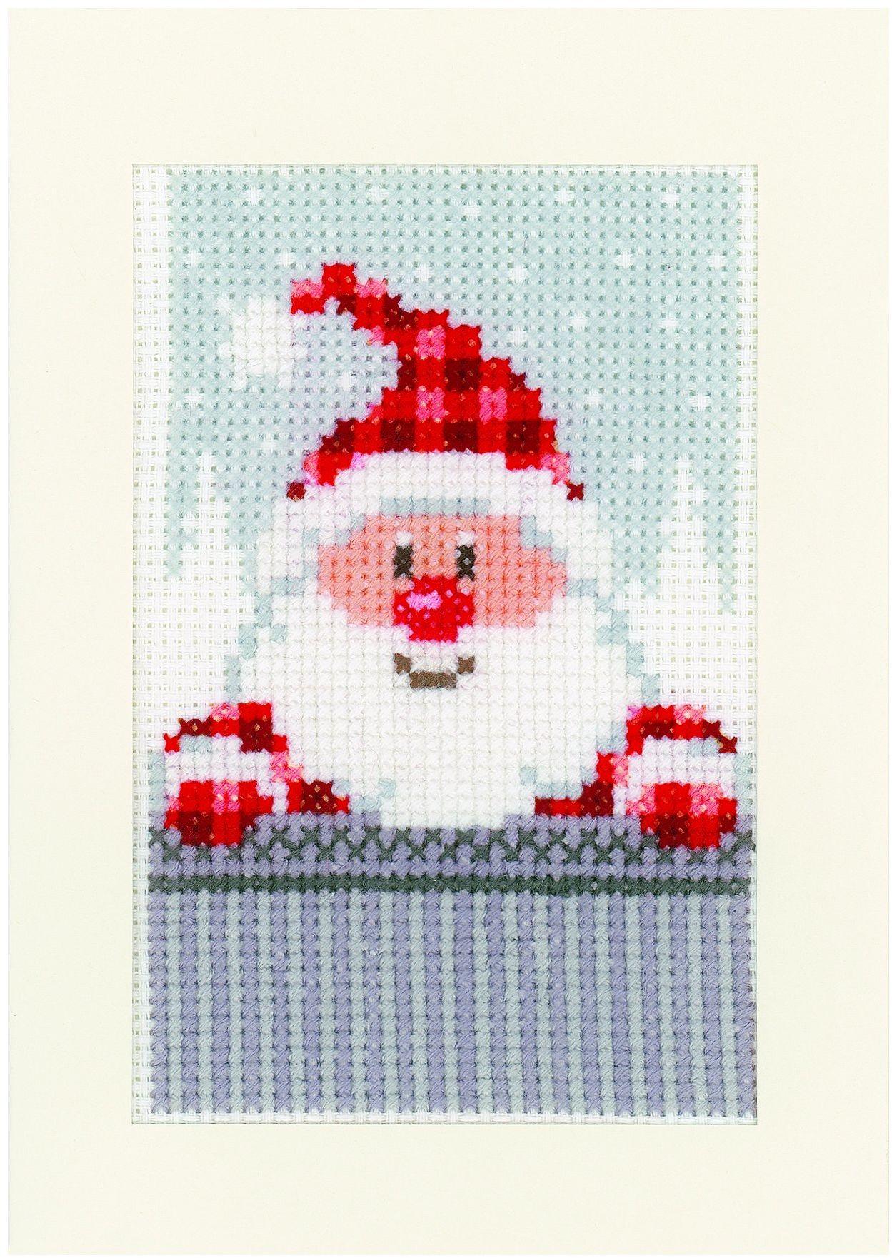 Vervaco kartki okolicznościowe Boże Narodzenie kumple I AIDA zestaw 3