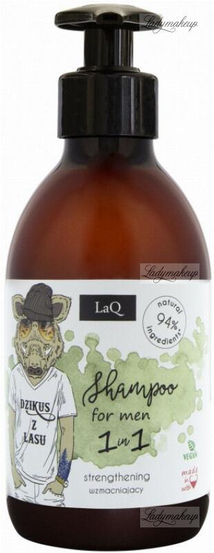 """LaQ - Shampoo for Men 1in1 - Naturalny, wzmacniający szampon do włosów dla mężczyzn - """"Dzikus z lasu"""" - 300 ml"""