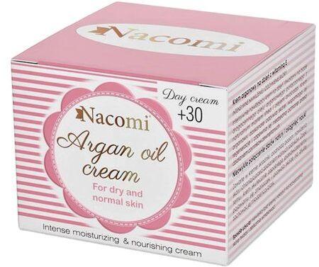 Krem do twarzy arganowy Nacomi 30+ na dzień - 50 ml