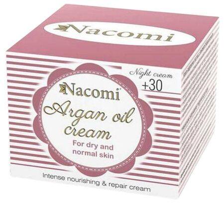 Krem do twarzy arganowy Nacomi 30+ na noc - 50 ml