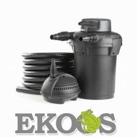 PondoPress 15000 UVC 11W - Zestaw filtracyjny ciśnieniowy do oczka wodnego 15 m3 PONTEC