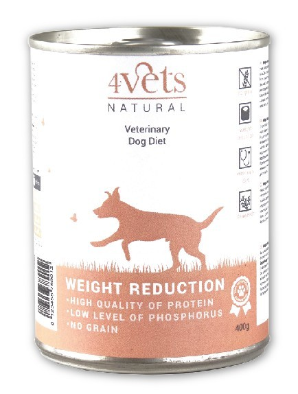 4Vets Natural Weight Reduction 400 g Dog