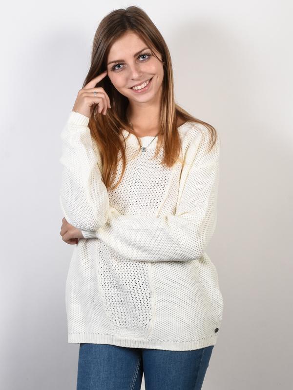 Roxy DESERVE GOOD THINGS MARSHMELLOW damski sweter projektant - L