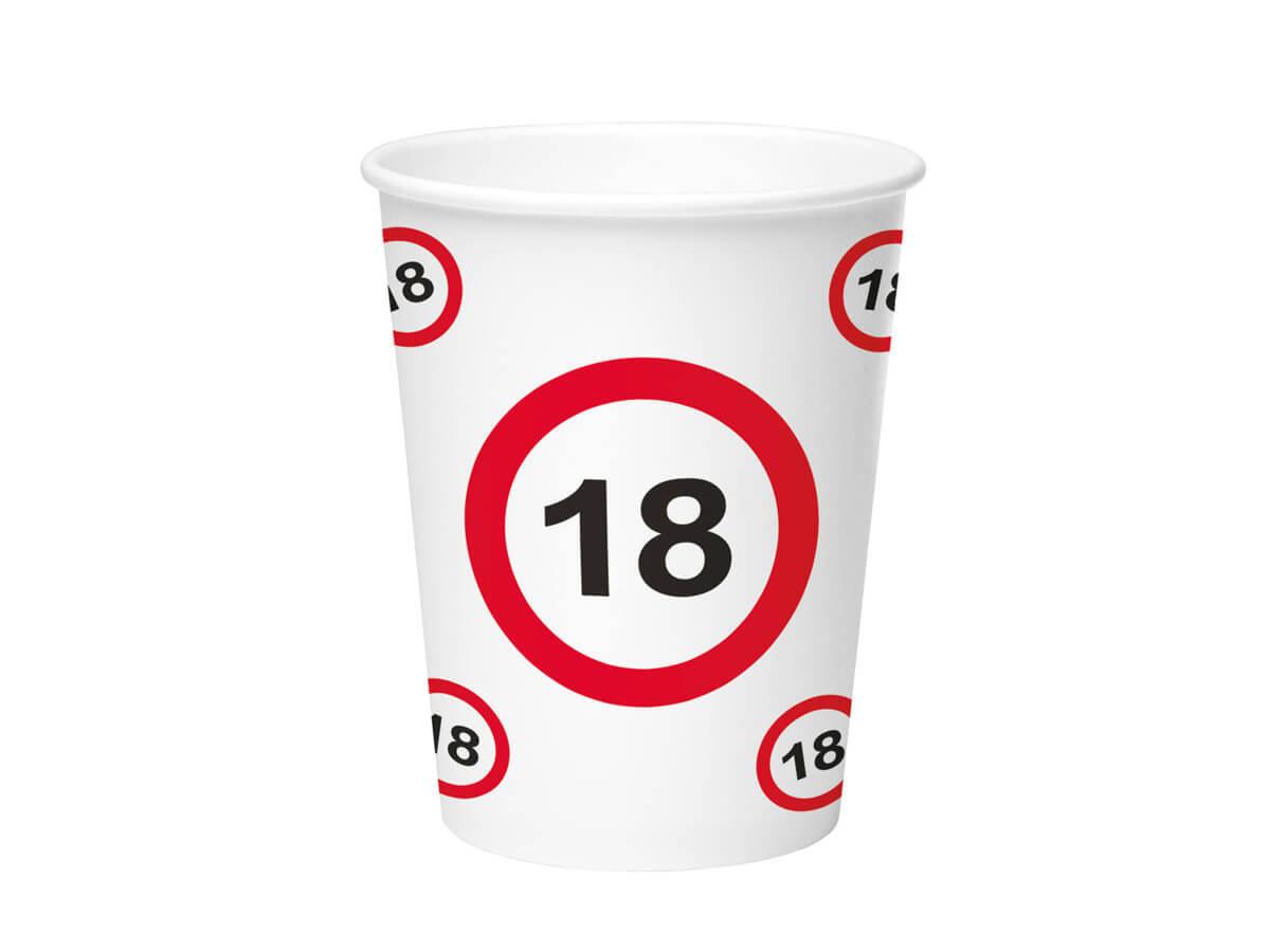 Kubeczki Znak zakazu 18tka - 350 ml - 8 szt.