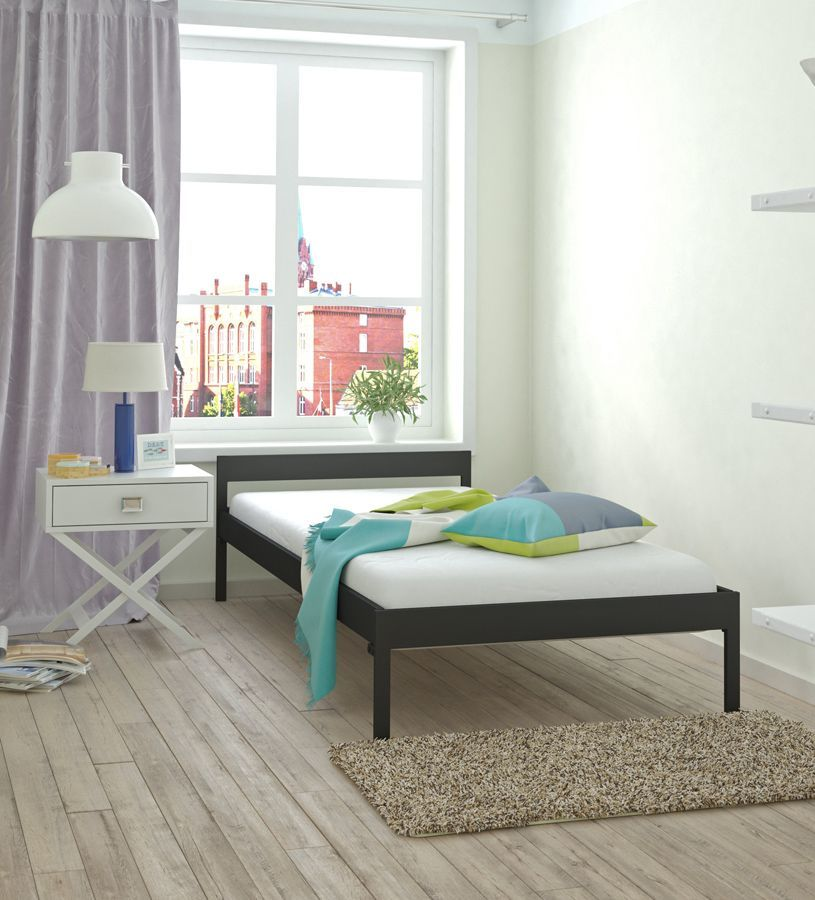 Jednoosobowe łóżko metalowe Dalis 90x200 - 17 kolorów