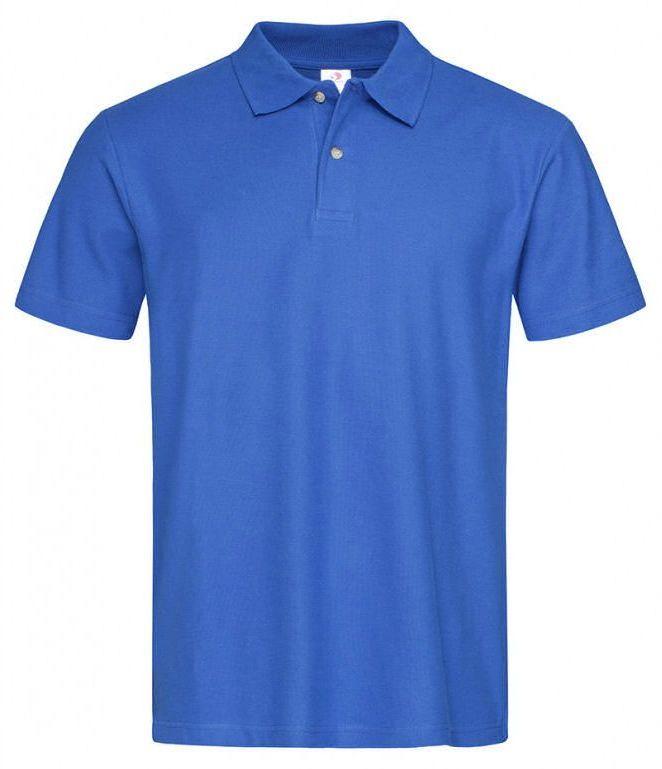 Chabrowa Bawełniana Koszulka POLO -STEDMAN- Męska, Krótki Rękaw, z Kołnierzykiem, Niebieska TSJNPLPOLOST3000brightroyal