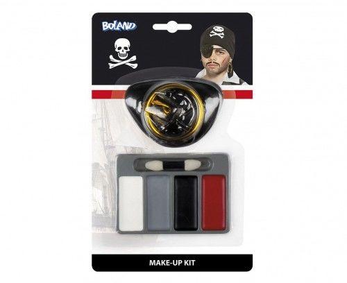 Zestaw farbek do twarzy Pirat II z kolczykiem i opaską na oko