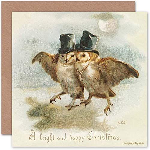 Wee Blue Coo Kartka ''MERRY Christmas'' Boże Narodzenie przyjazna angielska prezent dla mężczyzn