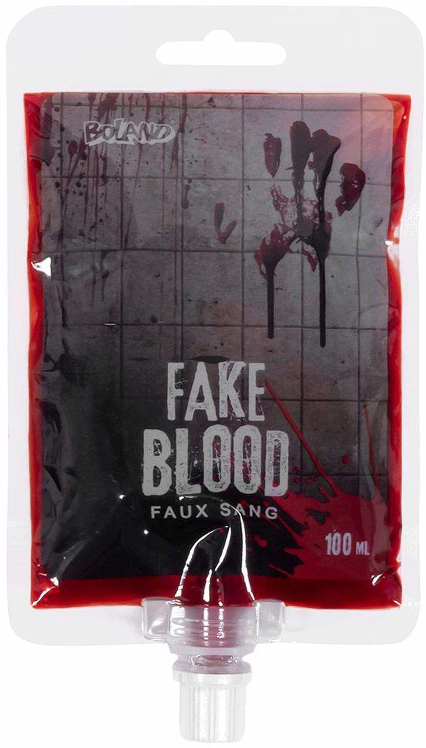 Boland 45159 - krew teatralna w woreczku, pojemność 100 ml, rozpuszczalna w wodzie, sztuczna krew, sztuczny krew, rana, makijaż, Halloween, karnawał, imprezę tematyczną, teatr, scena