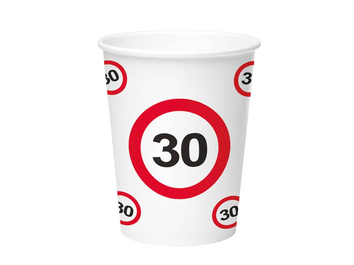 Kubeczki Znak zakazu 30tka - 350 ml - 8 szt.