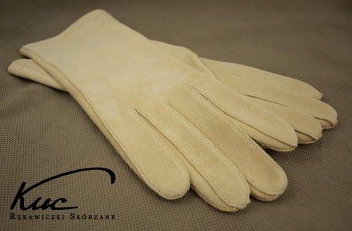 Rękawiczki irchowe damskie - nieocieplane
