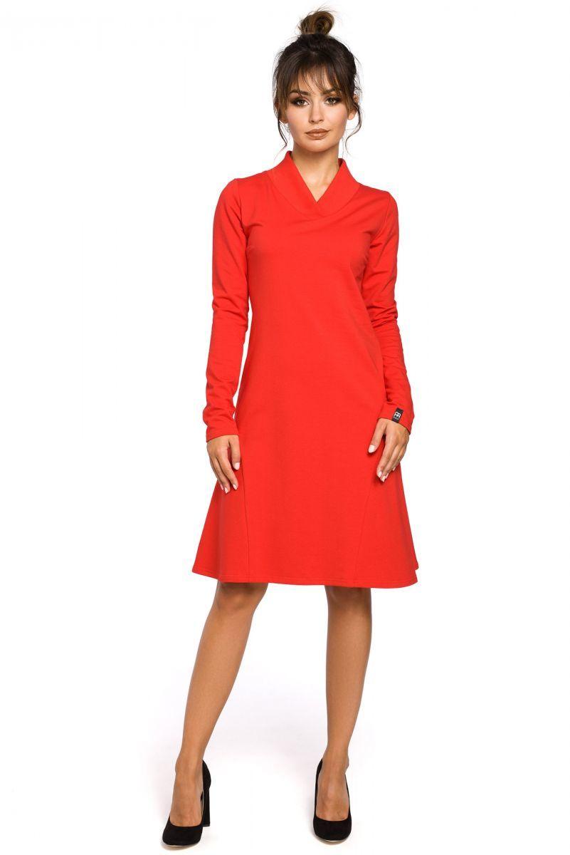 B044 sukienka czerwona