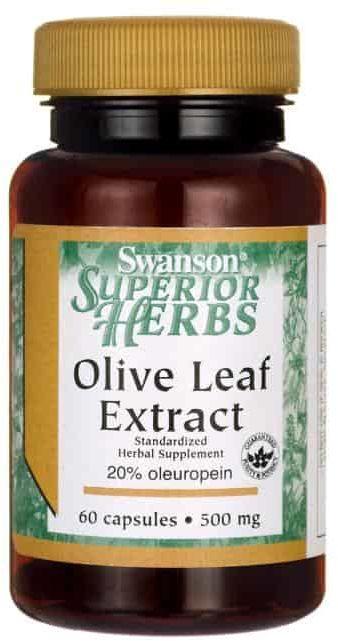 SWANSON Olive Leaf Extract (Ekstrakt z Liści Oliwnych) 500mg - 60 kapsułek