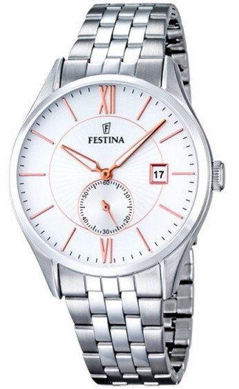 Zegarek Festina F16871-2 Classic - CENA DO NEGOCJACJI - DOSTAWA DHL GRATIS, KUPUJ BEZ RYZYKA - 100 dni na zwrot, możliwość wygrawerowania dowolnego tekstu.