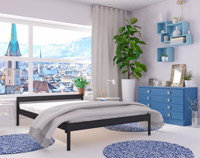 Łóżko dwuosobowe metalowe Dalis 140x200 - 17 kolorów