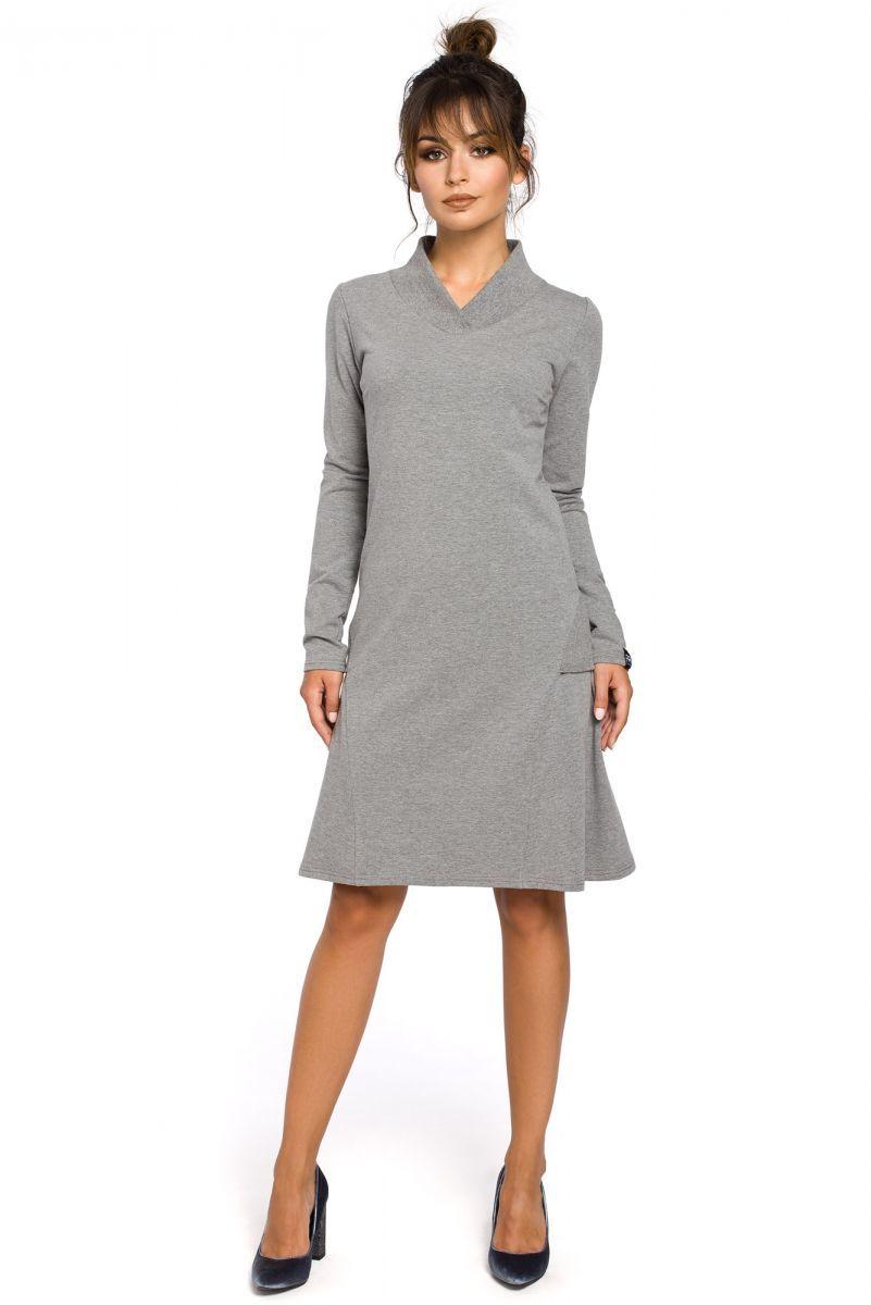 B044 sukienka szara