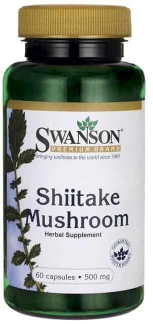 SWANSON Shiitake Mushroom (grzybek) 500mg - 60 kaps
