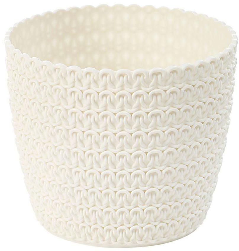 Osłonka plastikowa 30 cm kremowa MAGNOLIA