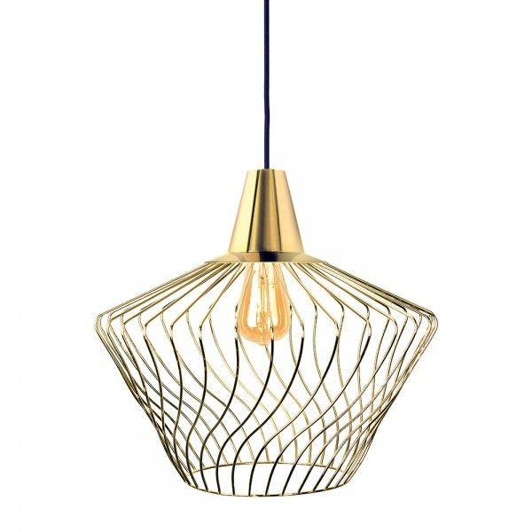 Lampa wisząca druciana złota Wave S gold zwis 8861 - Nowodvorski // Rabaty w koszyku i darmowa dostawa od 299zł !
