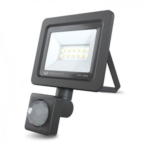 Naświetlacz LED PROXIM 10W biały zimny z czujnikiem ruchu