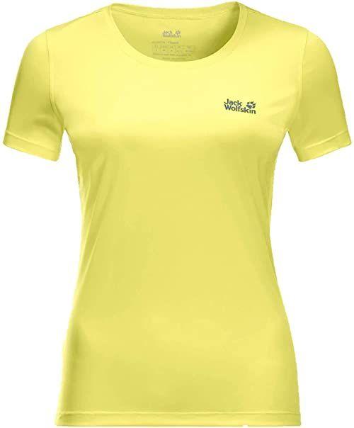Jack Wolfskin Damski T-shirt Tech T-shirt damski żółty Sorbet XS
