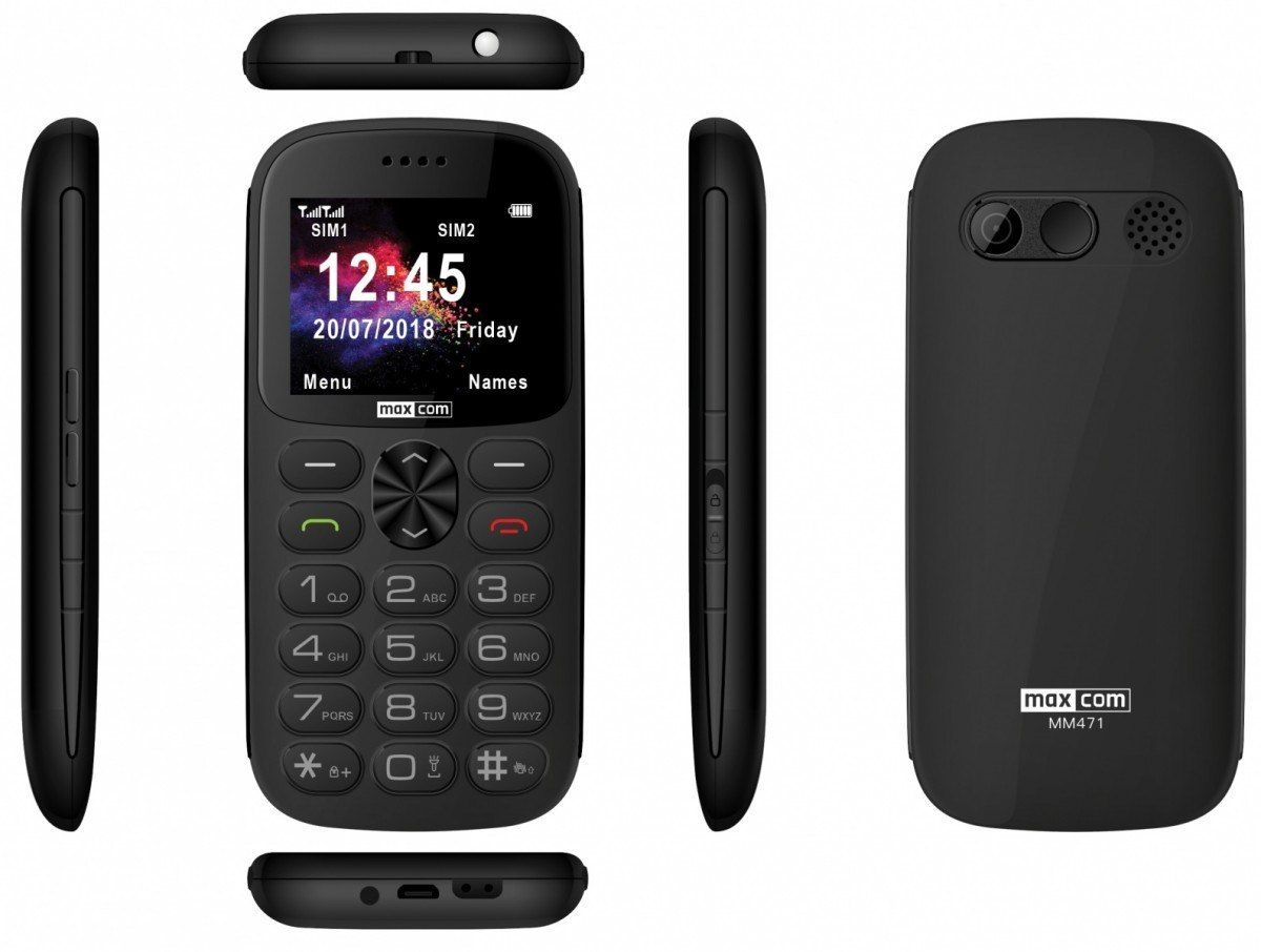 Maxcom Telefon MM 471BB szary