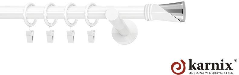 Karnisze nowoczesne NEO pojedynczy 19mm Loca biały