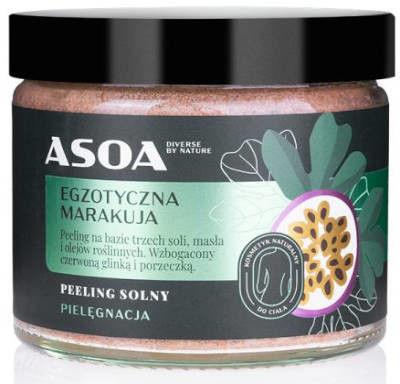 Peeling solny - egzotyczna marakuja 250ml Asoa