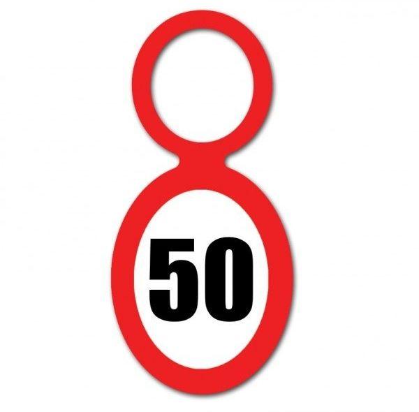 Zawieszki na butelki 50 urodziny 20szt EL212