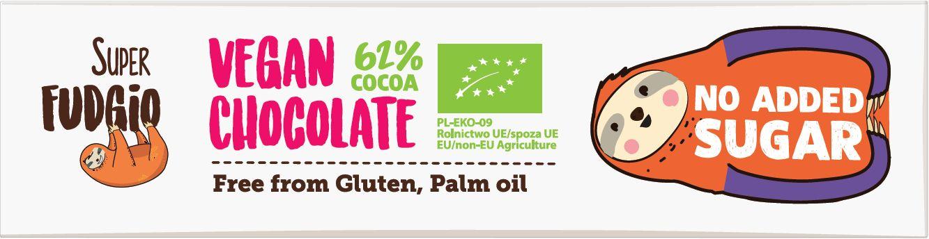 Baton o smaku kokosowym bezglutenowy bio 40 g - super fudgio