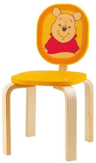 """Krzesełko dla dziecka, """"Kubuś Puchatek"""" - zabawki z drewna, 82692-Sevi, mebelki do pokoju dziecka"""