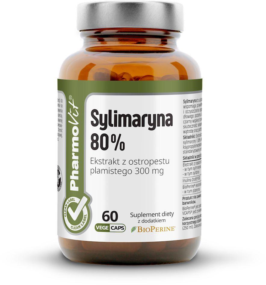 Sylimaryna 60 kapsułek 30,18 g - pharmovit (clean label)