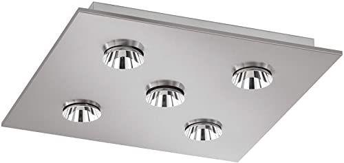 Fischer & Honsel 4 W metalowa czapka lampa sufitowa - nikiel