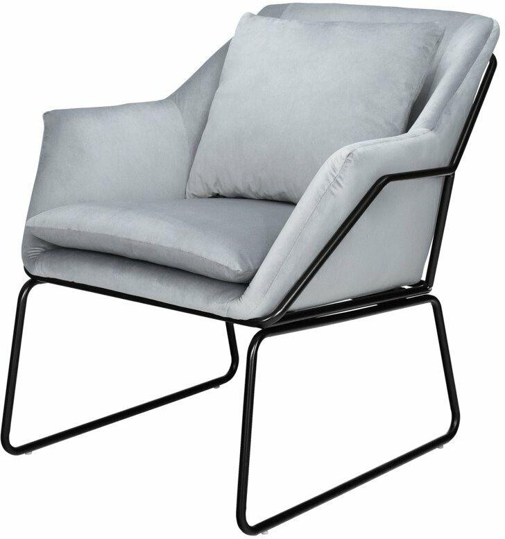 Fotel welurowy FLUENCE szary 145-uniw - Step Into Design