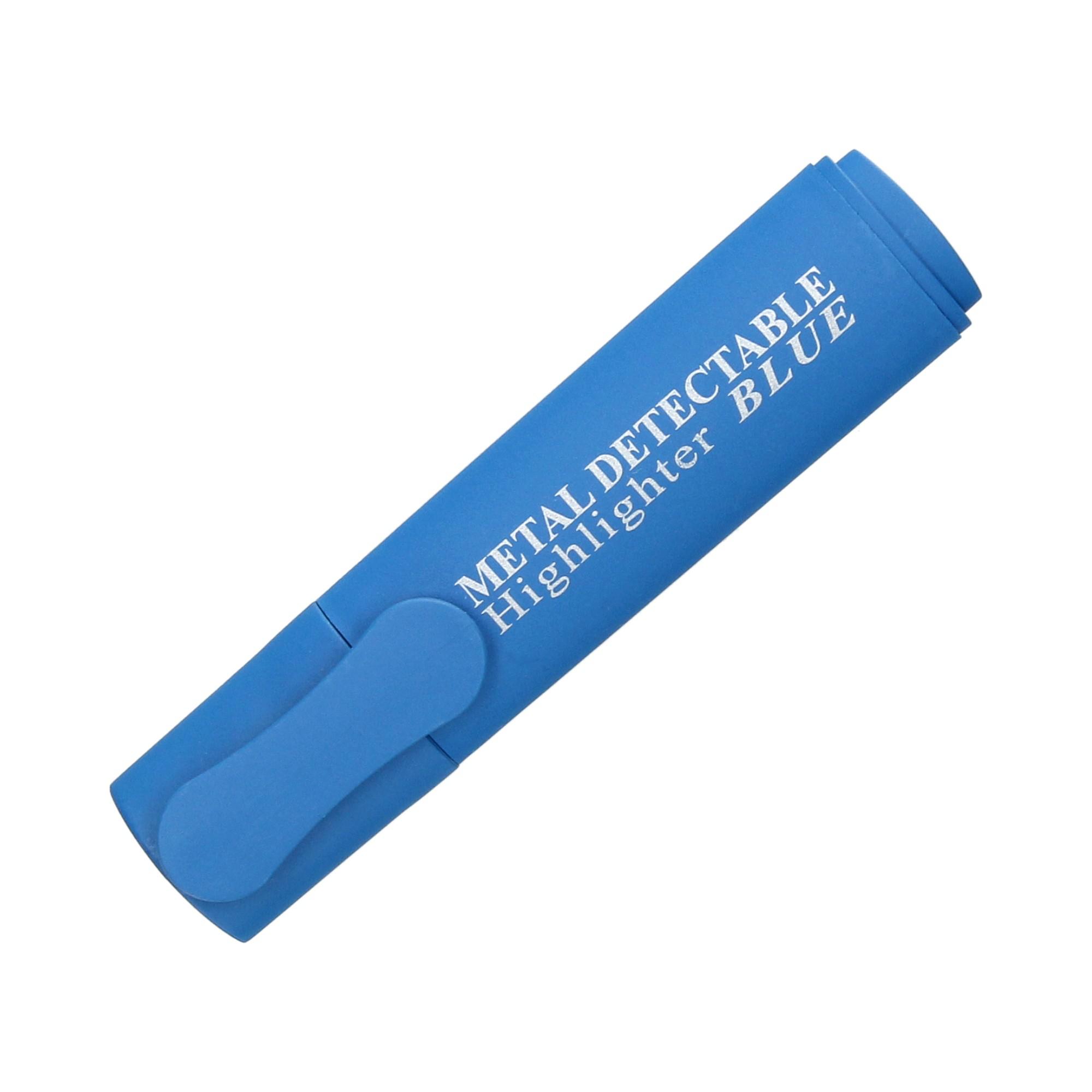 Zakreślacz niebieski wykrywalny detektorem metalu